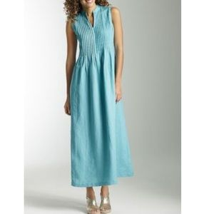 NWT J. Jill Linen Pacific Dress Sz M